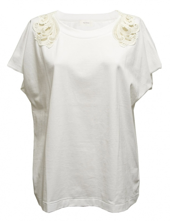 Harikae white short sleeve sweater SS7H0033-T-SHIRT-W womens knitwear online shopping