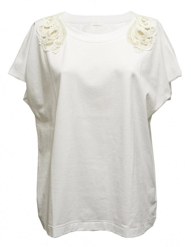 Maglia a manica corta Harikae colore bianco SS7H0033-T-SHIRT-W maglieria donna online shopping
