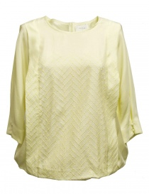 Womens shirts online: Harikae yellow silk shirt