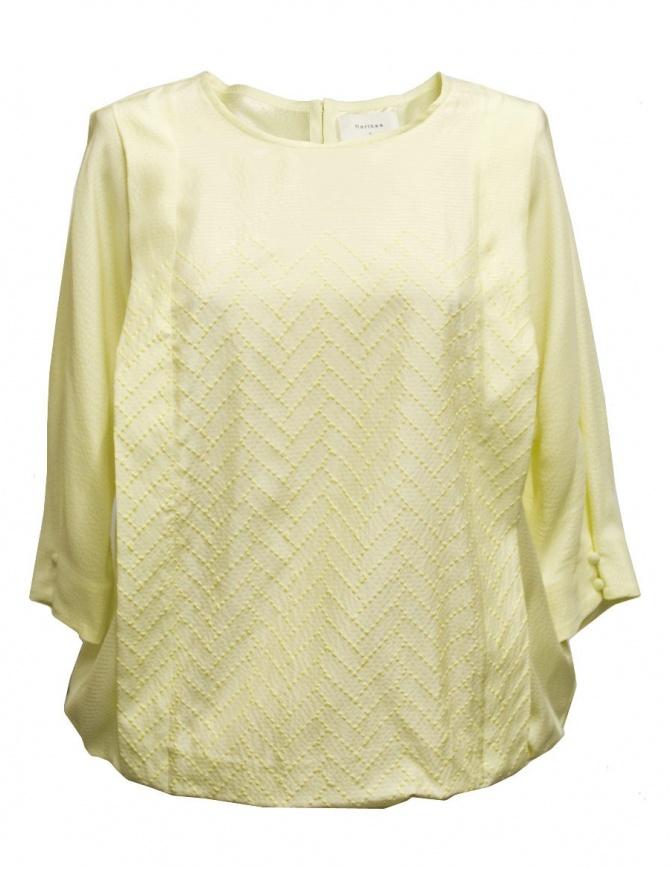 Harikae yellow shirt SS17H0027-SILK-BLOUS womens shirts online shopping
