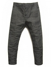 Mens trousers online: Label Under Construction Front Cut grey trousers