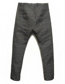 Label Under Construction Front Cut grey trousers